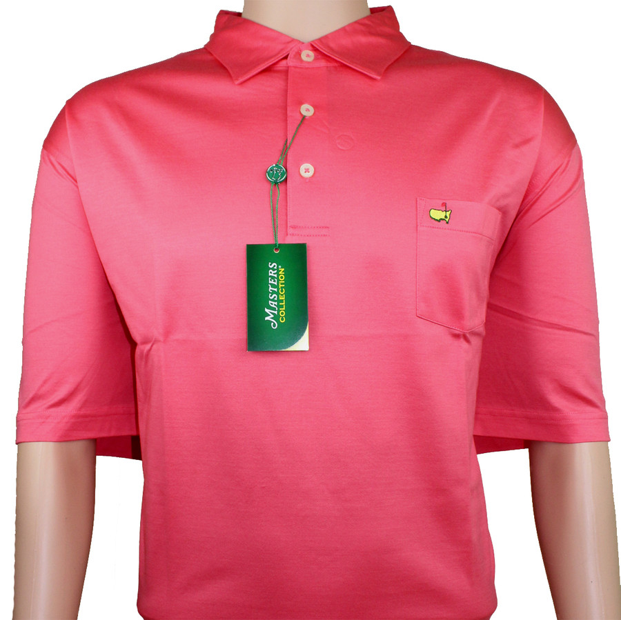 Masters Coral Jersey Golf Shirt