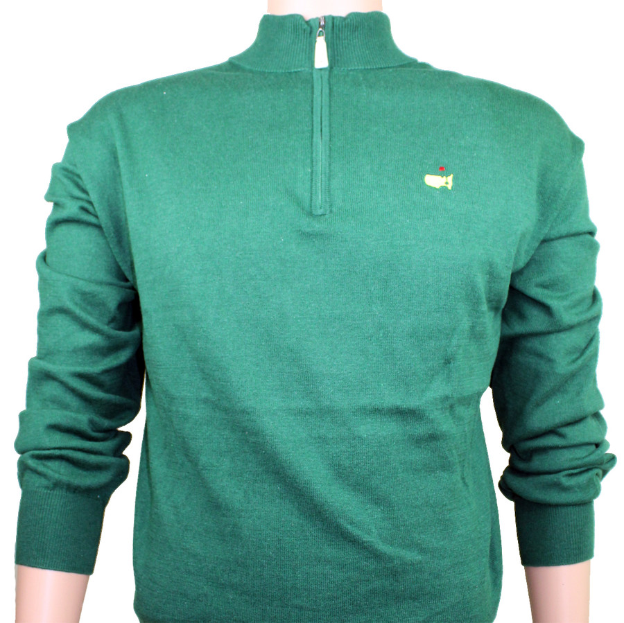 Masters Peter Millar Green 1/4 Zip Sweater - XXL ONLY