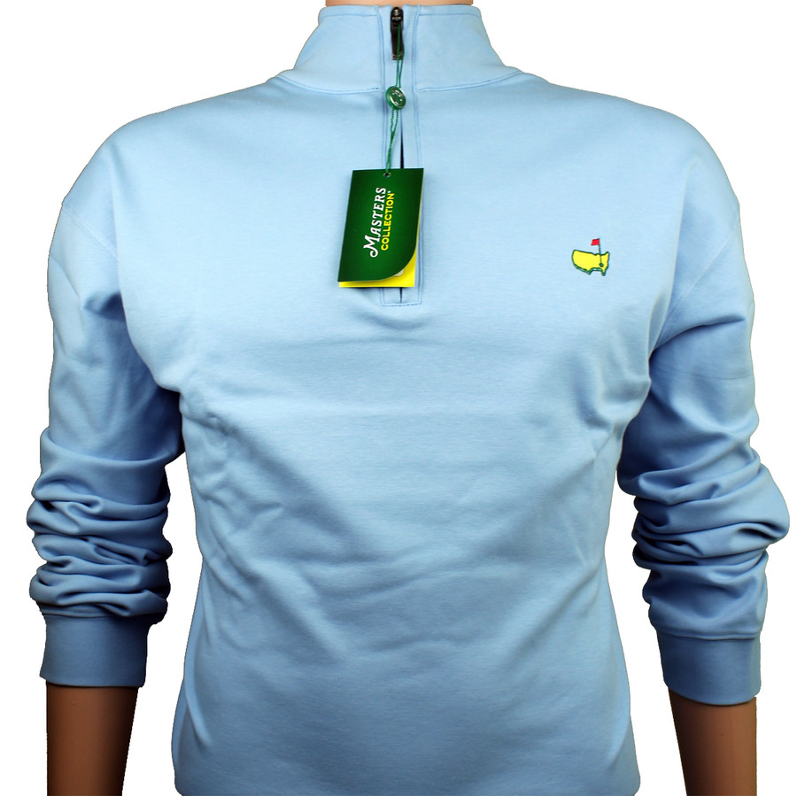 Masters Collection Light Blue Cotton 1/4 Zip Jacket