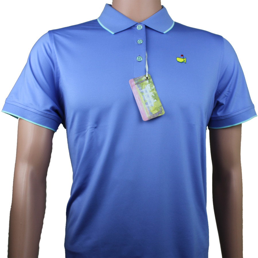 Masters Magnolia Lane Performance Tech Violet & Teal Tech Golf Shirt