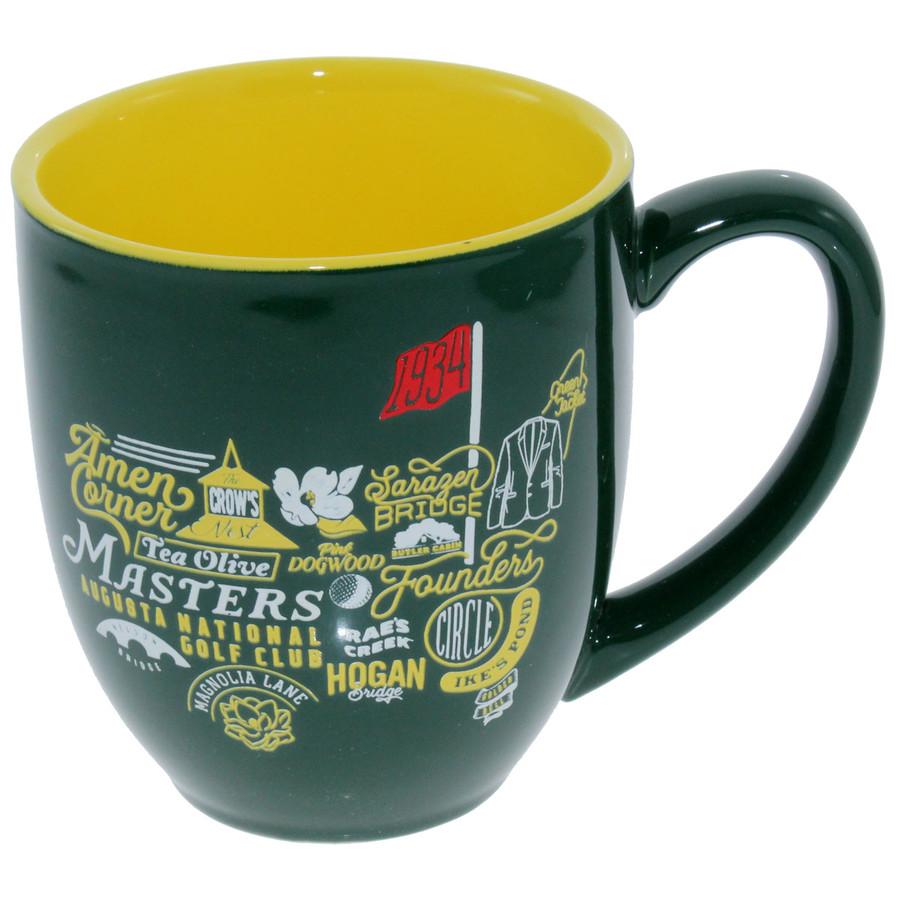 Masters Green Iconic Logo Mug