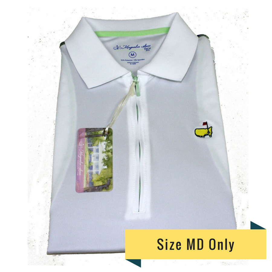 Masters Magnolia Lane White Tech Sleeveless Golf Shirt
