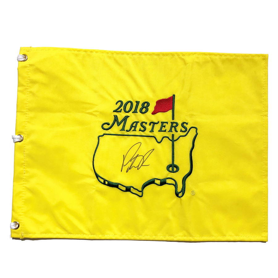 Patrick Reed Autographed 2018 Masters Pin Flag PSA Authenticated
