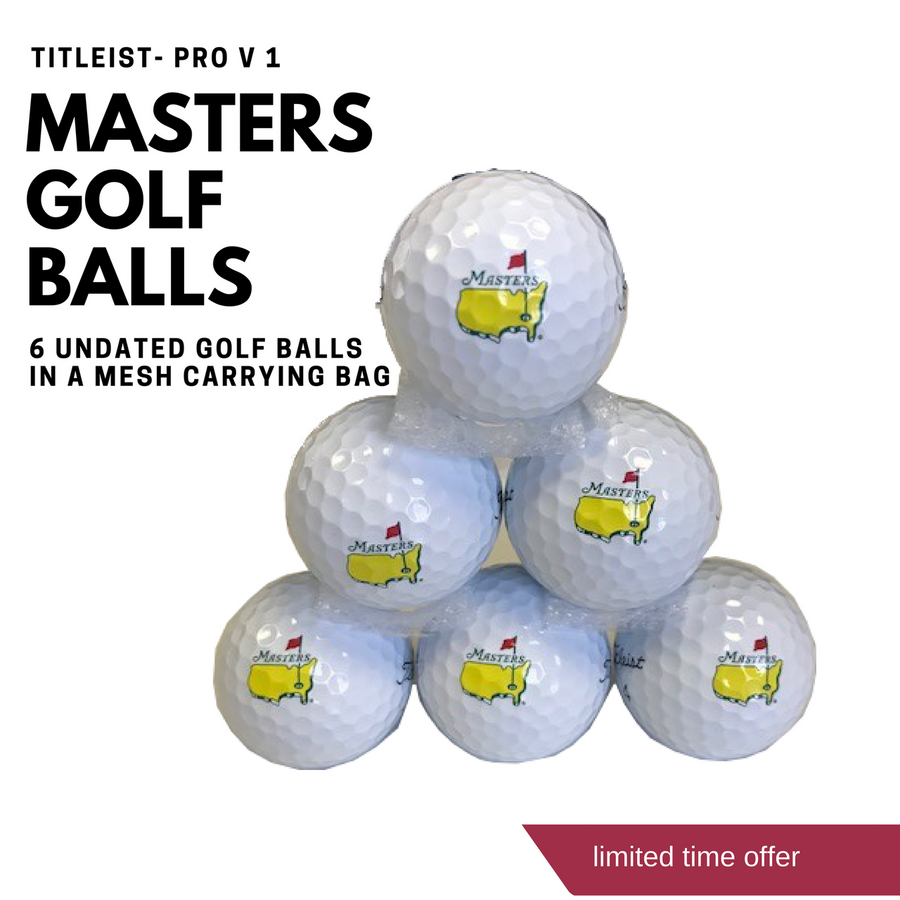 Bag of 6 Masters Titleist Golf Balls- Pro V 1
