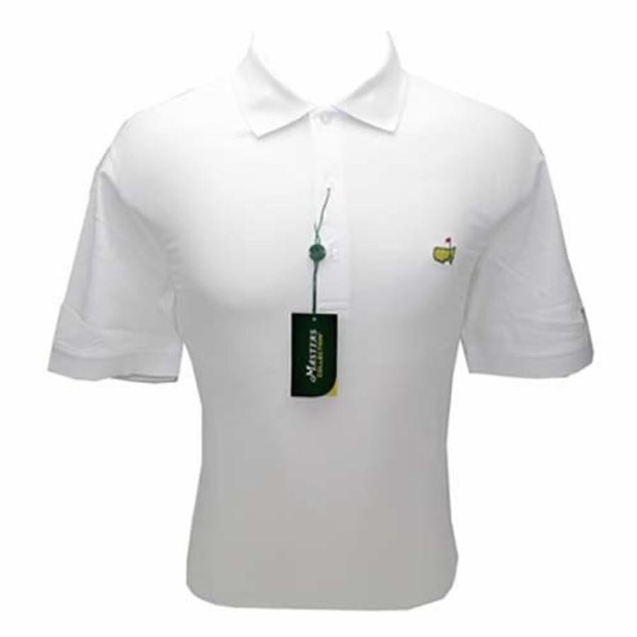 Masters Polo Shirt - White- 100% Pima Cotton