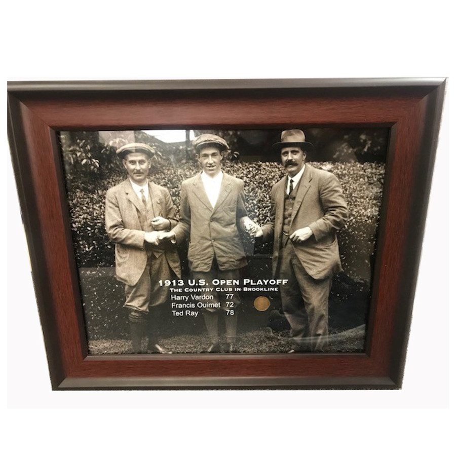 1913 U.S. Open Playoff Framed Print with coin
