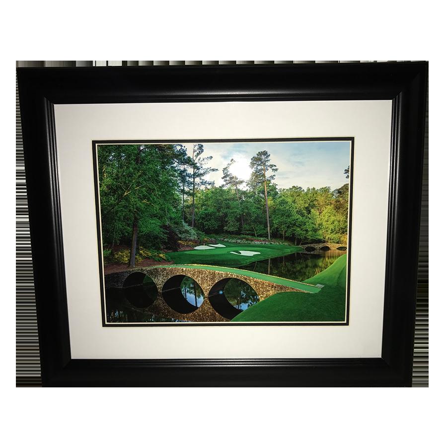 Masters Bridge Framed Portrait- 12th Hole Golden Bell