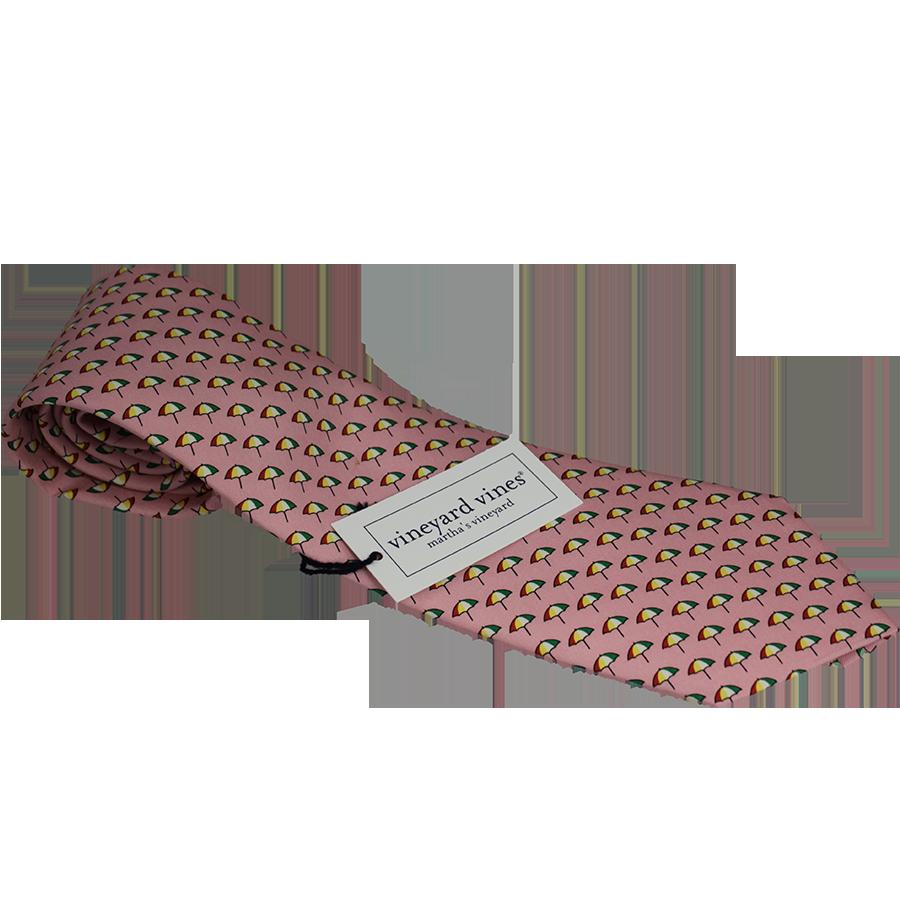 Arnold Palmer Umbrella Vineyard Vines Silk Tie- Pink