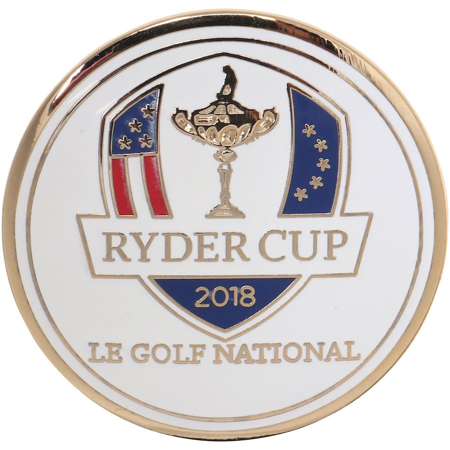 2018 Ryder Cup Single Ball Marker- White