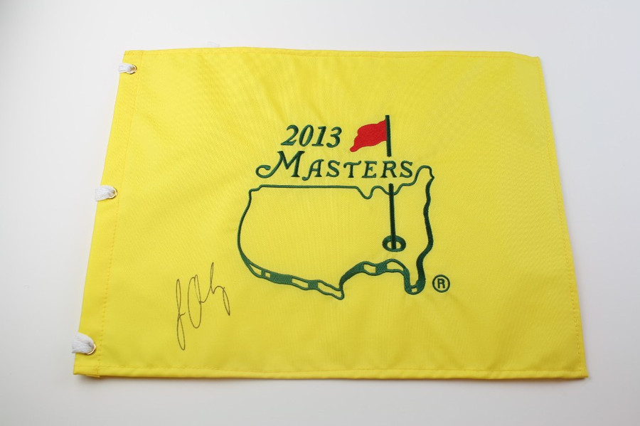 2013 Authentic Augusta National Masters Pin Flag - Autographed by Louis Oosthuizen