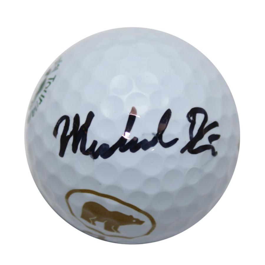 Michael Kim Autographed Memorial Logo Golf Ball