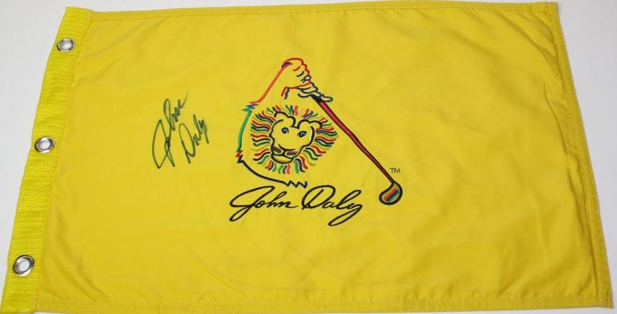 John Daly Signed Flag