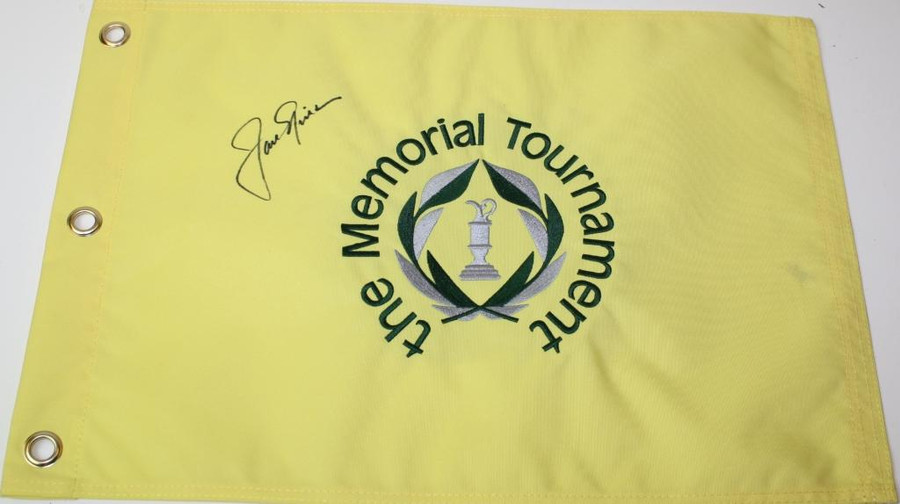 Jack Nicklaus Memorial Autographed Flag