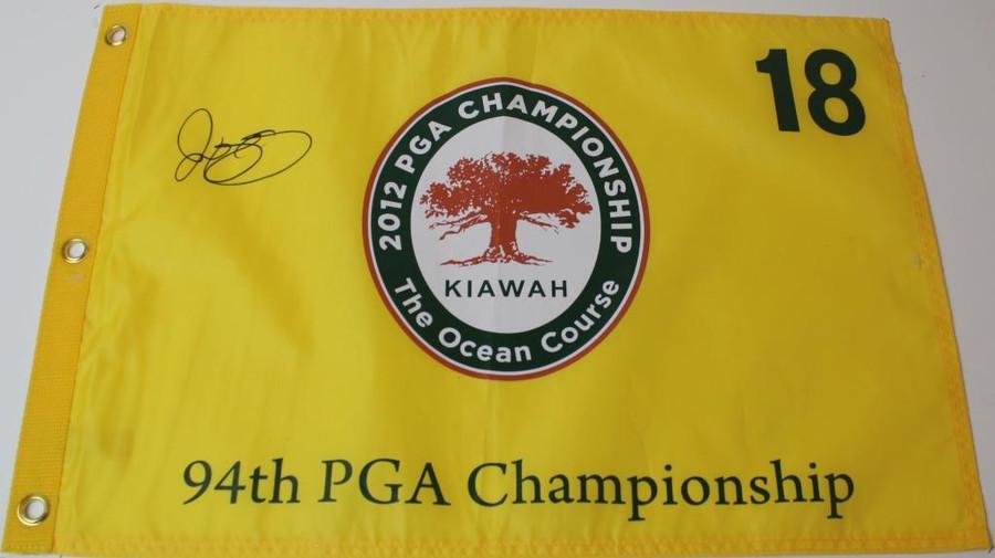 Rory McIlroy 2012 PGA Championship Kiawah Autographed Flag - JSA COA