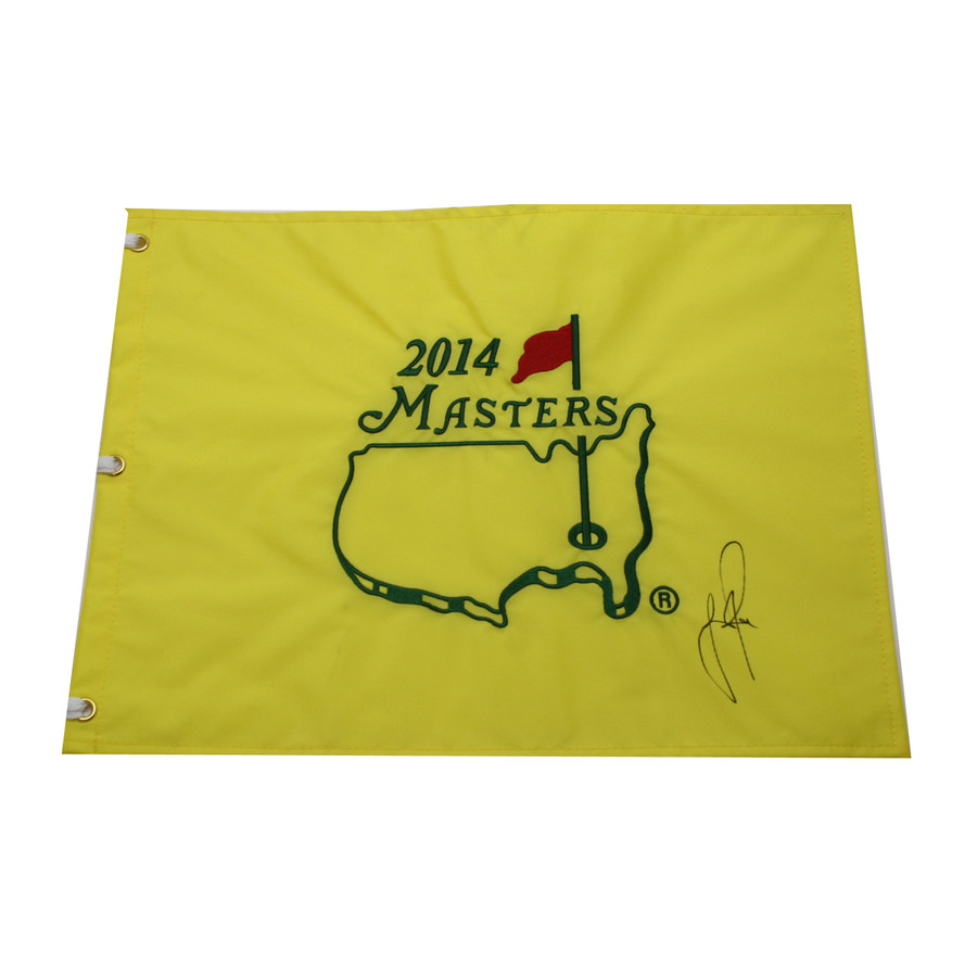 Justin Rose Autographed 2014 Masters Pin Flag