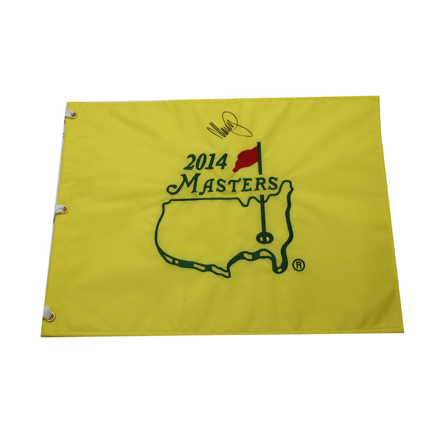Matteo Manassero Autographed 2014 Masters Pin Flag