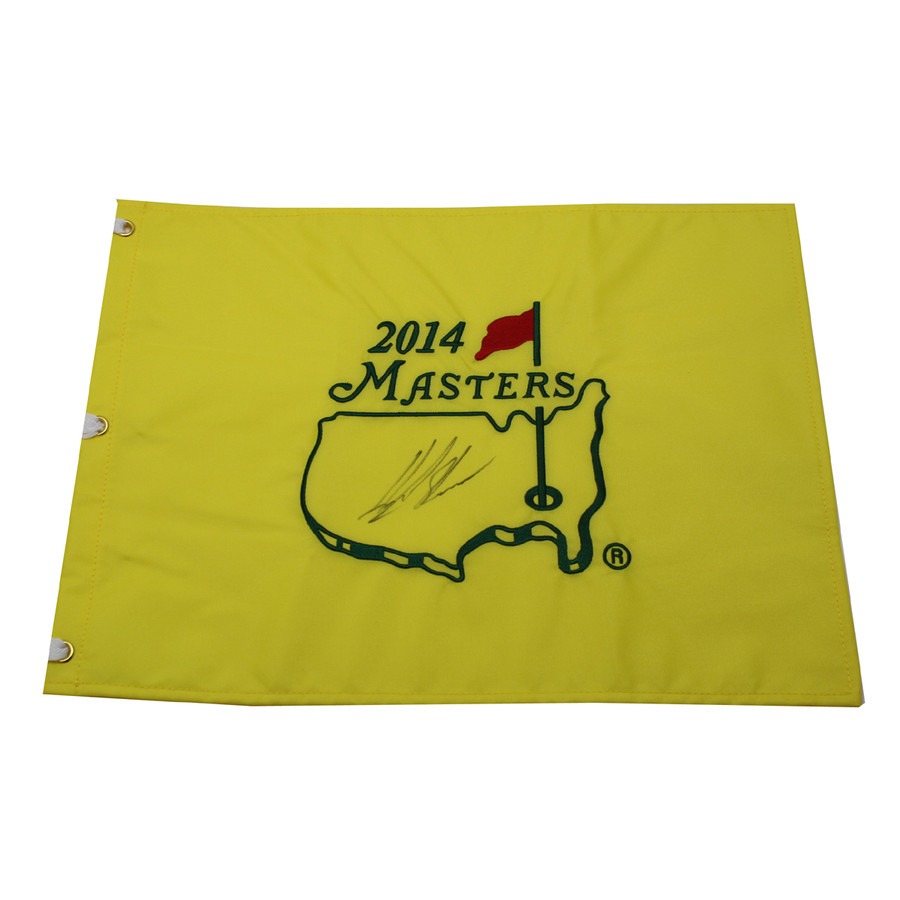 Henrick Stenson Autographed 2014 Masters Pin Flag
