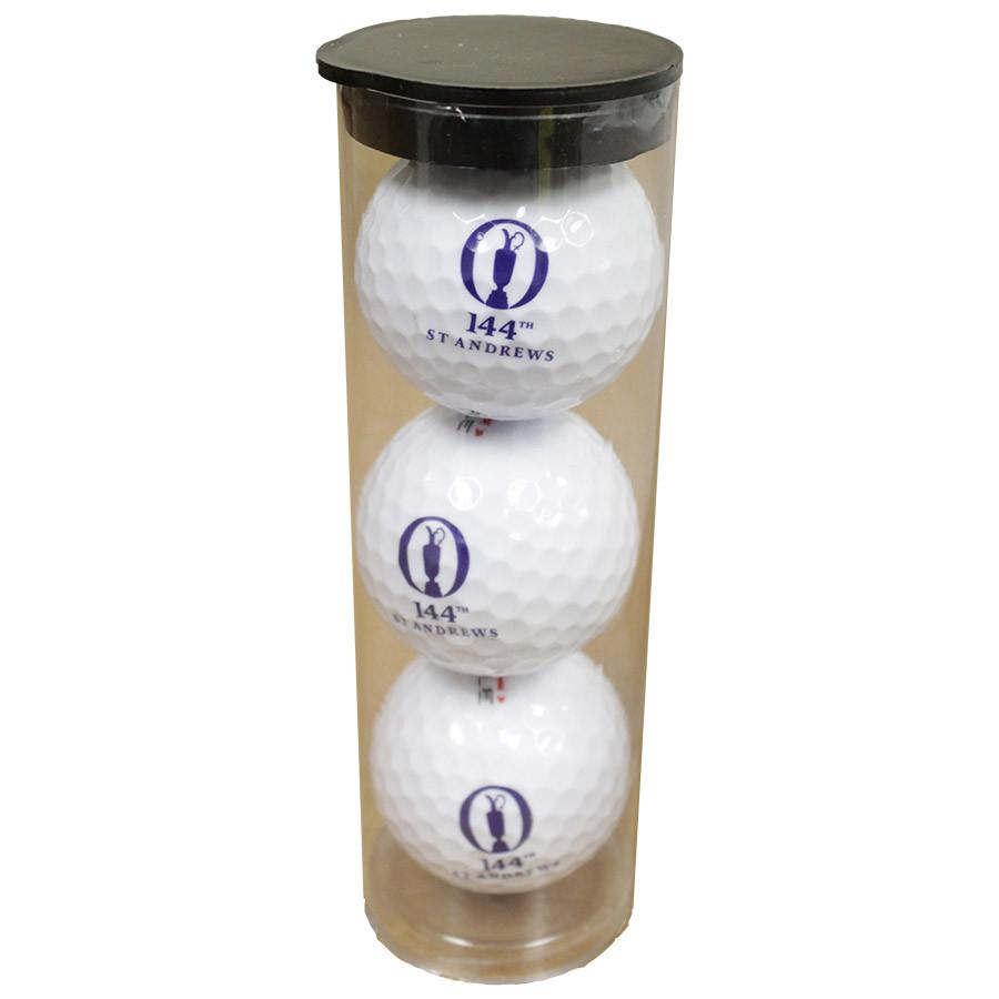 St Andrews 144th British Open 3 Pack Golf Balls- Brand New!