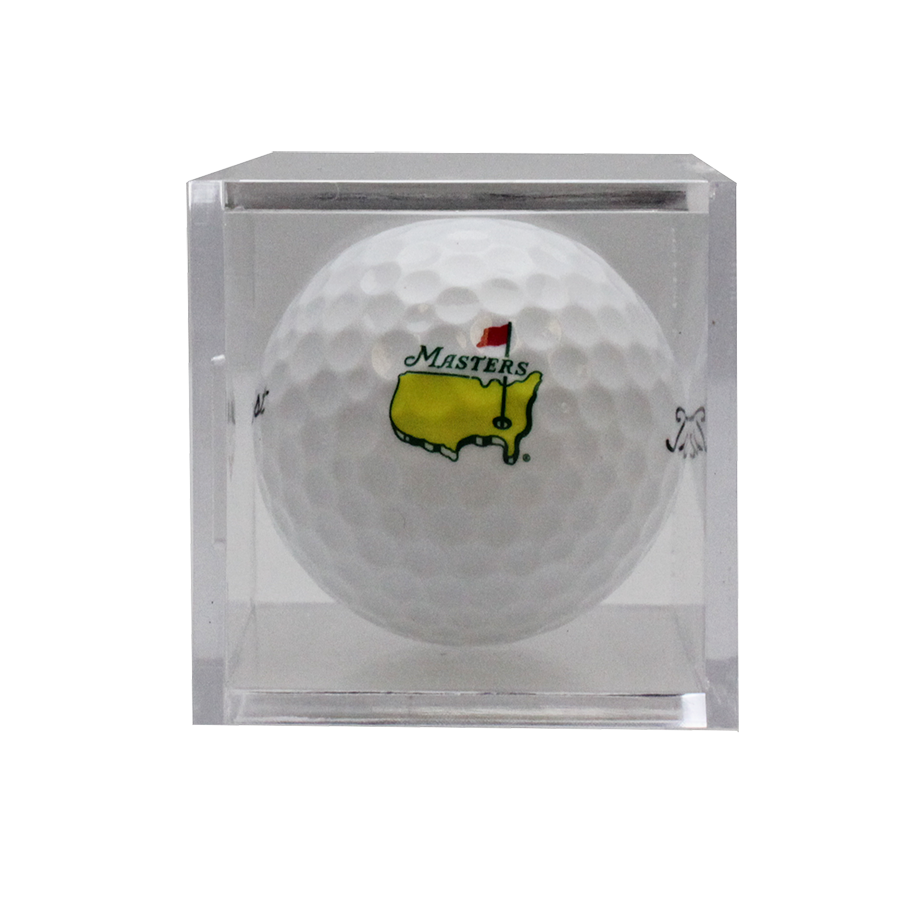 Masters Golf Ball in Display Case