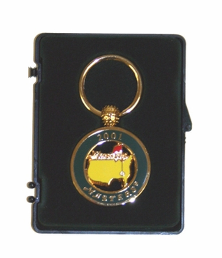 """Masters 2001 """"Tiger Wins"""" Dated Key Chain"""
