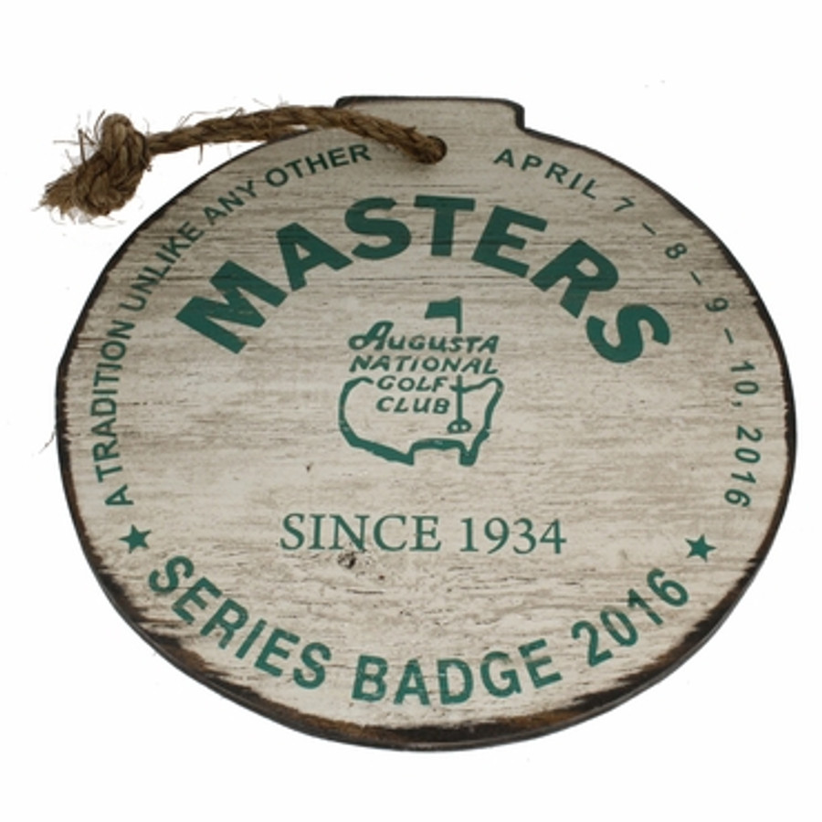 Masters Wooden Wall Badge White