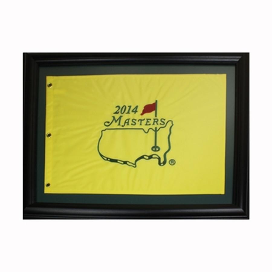 2014 Masters Pin Flag - Framed