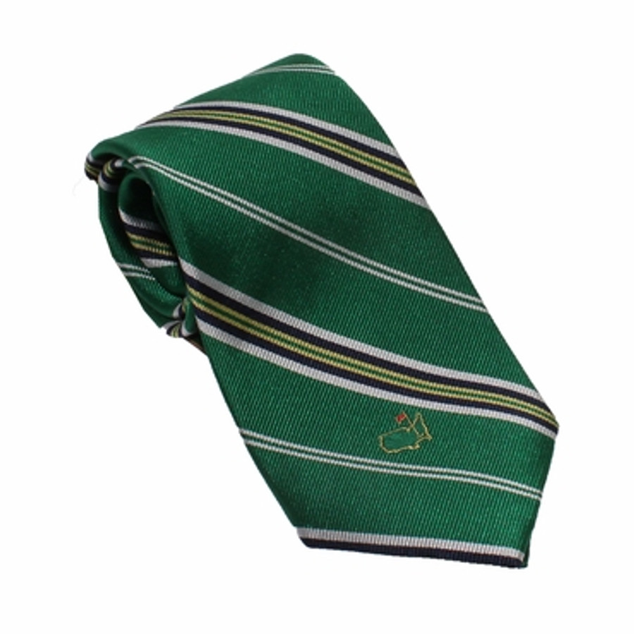 Berckmans Green Striped Tie