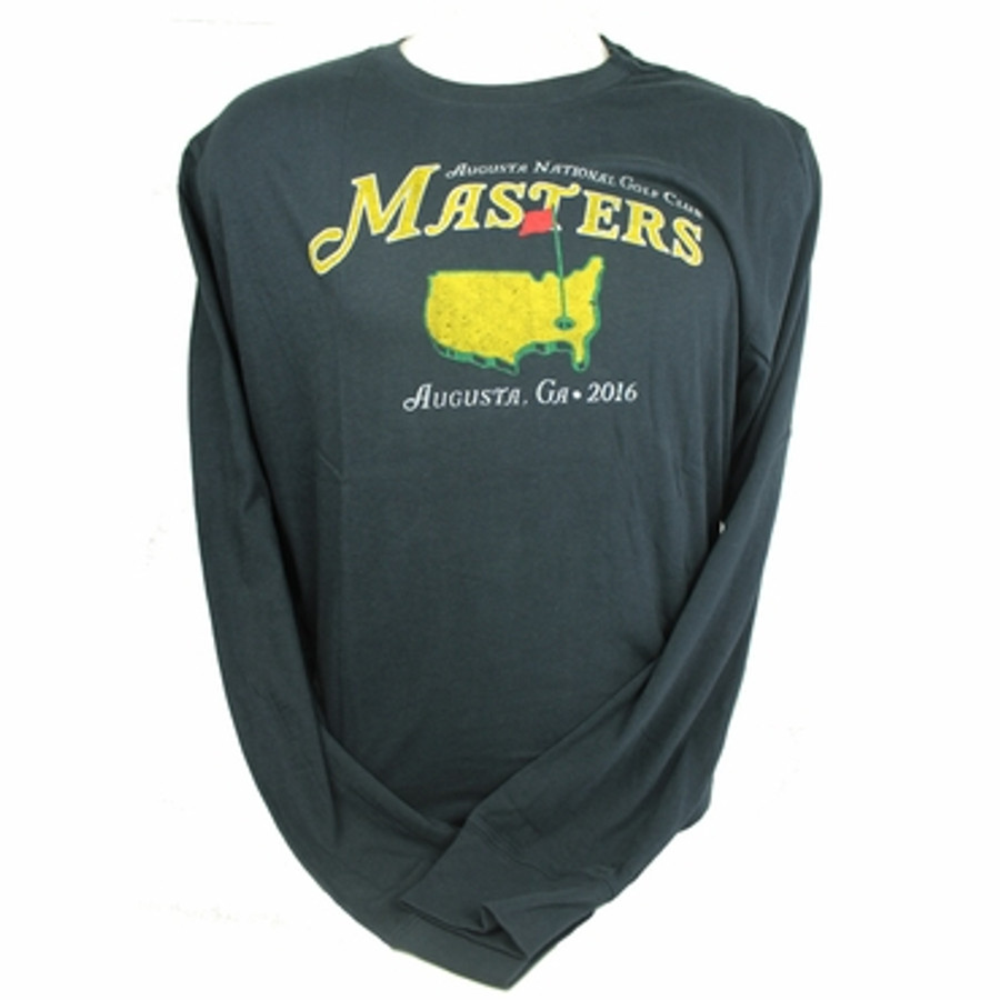 Masters 2016 Vintage Navy Long Sleeve T-Shirt * Medium Only