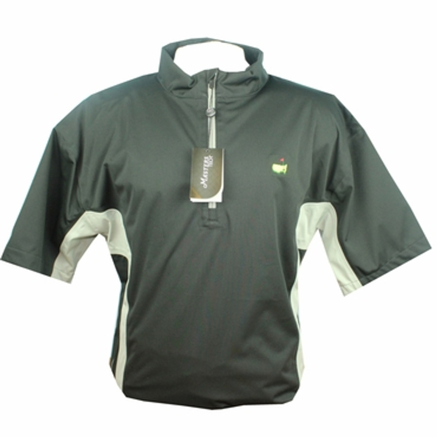Masters Performance Tech Black & Grey Short Sleeve Wind Shirt