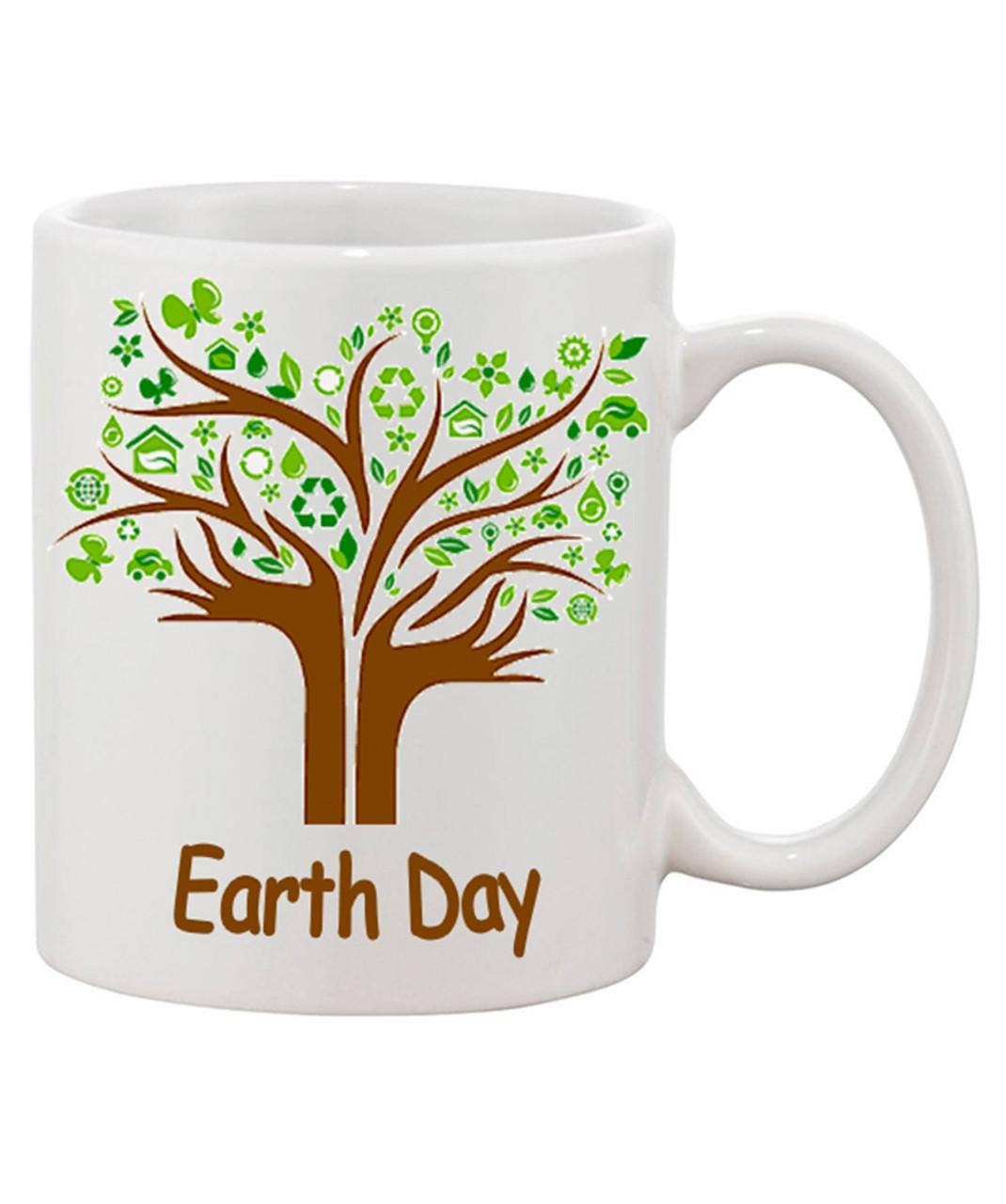 Earth Day Mug / Hands Extend Into A Beautiful Tree