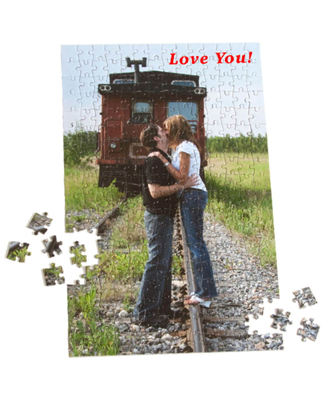 custom personalized jigsaw puzzle 252 pieces includes a cardboard