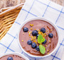 Chocolate pudding with bee pollen