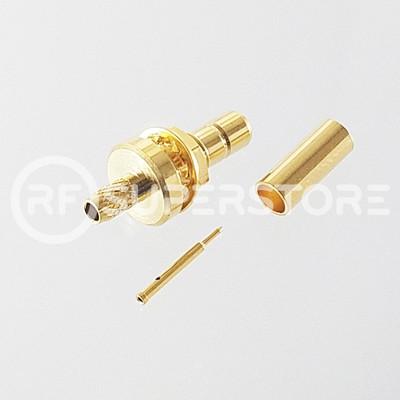 SMB Jack Bulkhead Rear Mount Connector Crimp Attachment Coax RG174, RG188, RG316, Gold Plating