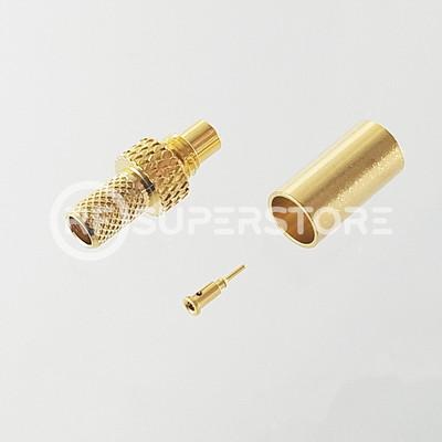 SMC Jack Connector Crimp Attachment Coax RG55, RG58, Gold Plating