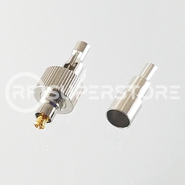 MC-Card Plug Connector Crimp Attachment Coax 1.13mm, 1.32mm, 1.37mm, Nickel Plating