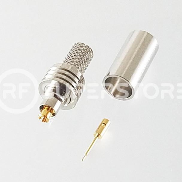 MC-Card Plug Connector Crimp Attachment Coax RG55, RG58, Nickel Plating