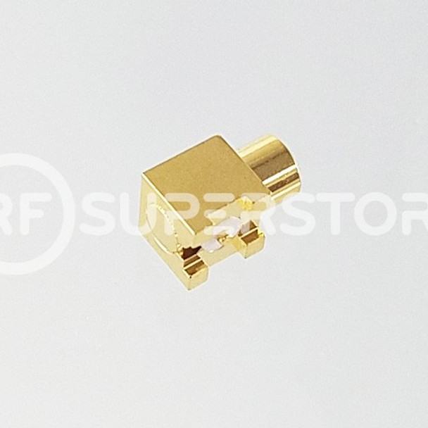 MCX Jack Right Angle Connector Solder Attachment PCB Surface Mount, Gold Plating