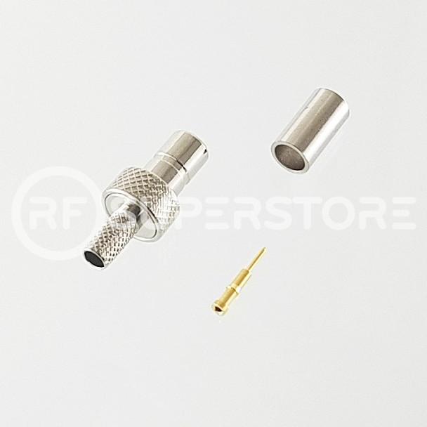 SMB Jack Connector Crimp Attachment Coax RG174, RG188, RG316, Nickel Plating