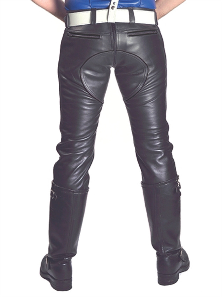 Mister B Leather FXXXer Jeans All Black