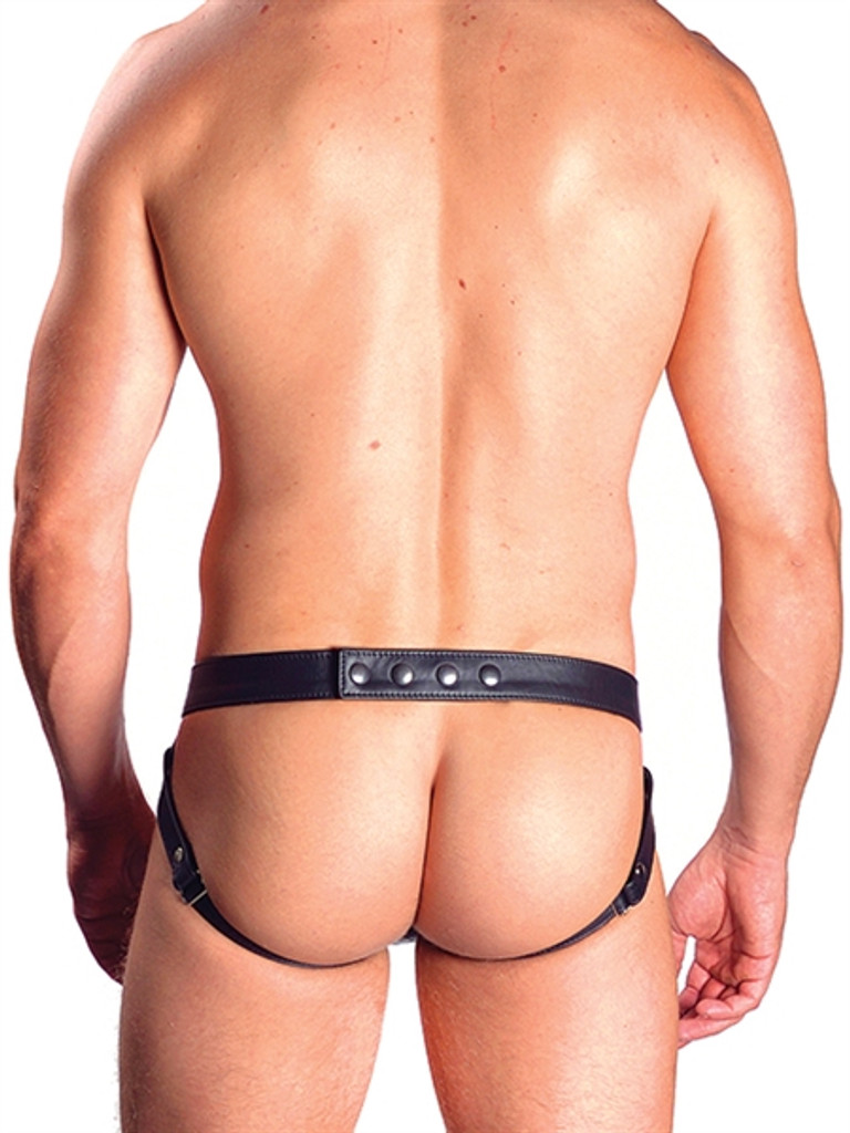 Mister B Leather Double Pouch Laced Cockring