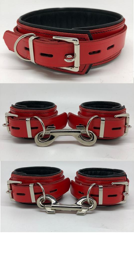 Deluxe Lockable Restraints - Red & Black