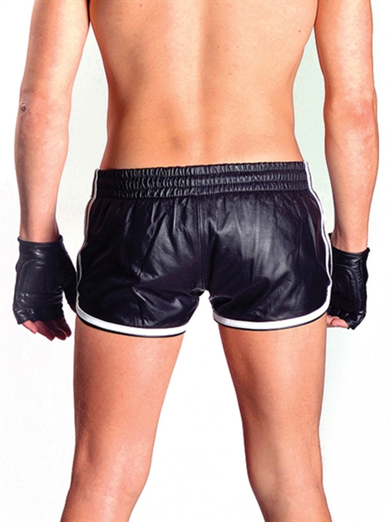Mister B Leather Sport Shorts