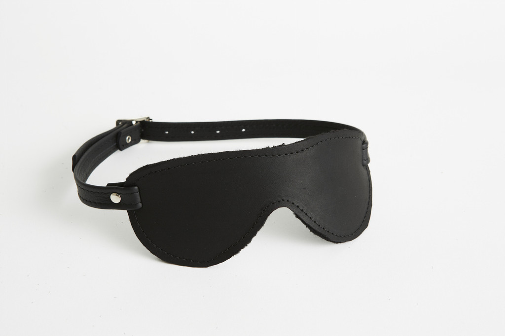 Buckle Fastened Leather Aviator Blindfold