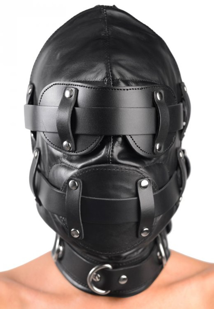 Total Lockdown Leather Hood - Medium / Large