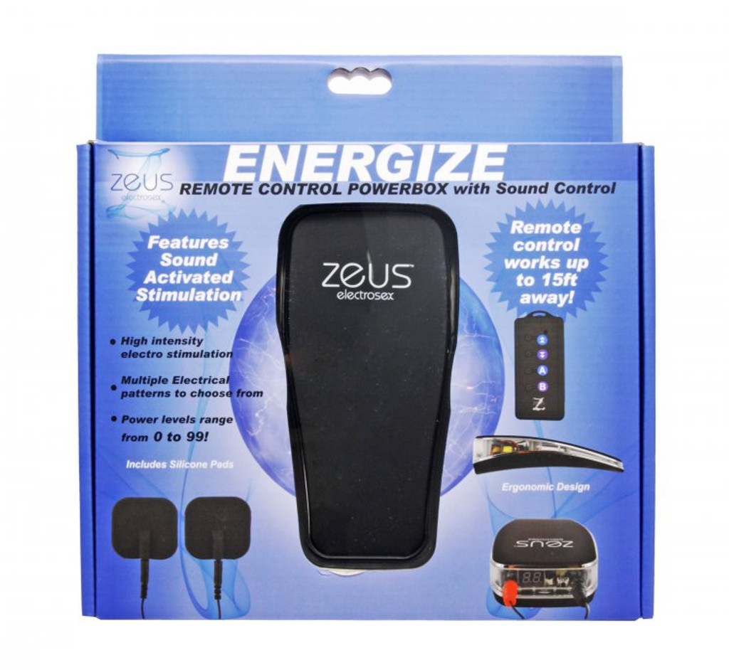 Energize Remote Control Estim Power Box with Sound Control