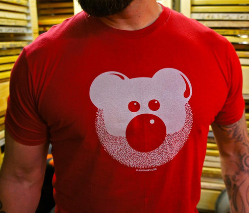 Beardy Bear - Red