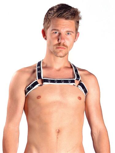 Mister B Leather X-Back Harness Premium White