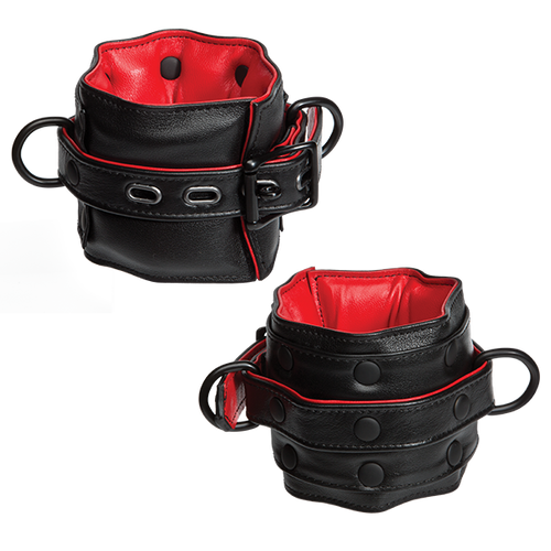 Leather Submissive Accessories Wrist Restraints