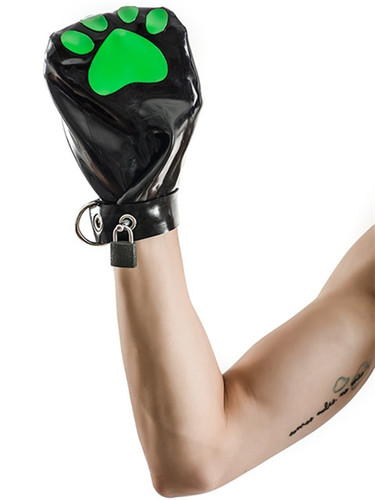 Mister B FETCH Rubber Puppy Mitts Black & Green