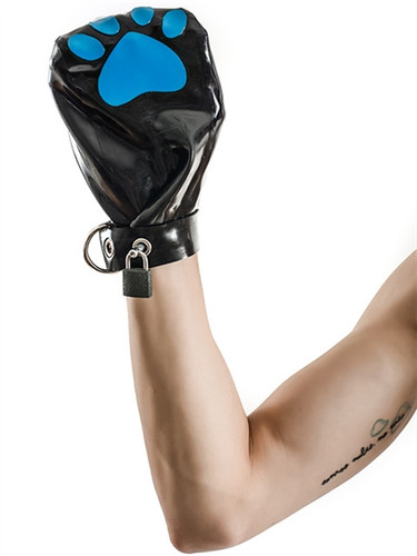 Mister B FETCH Rubber Puppy Mitts Black & Blue